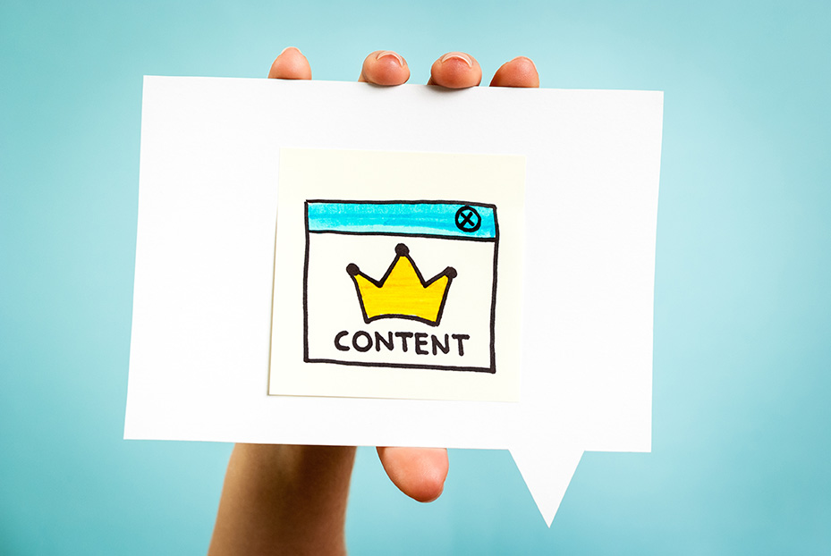 Content marketing sign created by a content marketing agency
